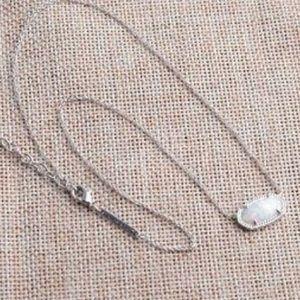 Kendra Scott Kyocera Opal Elisa Necklace w/ Pouch